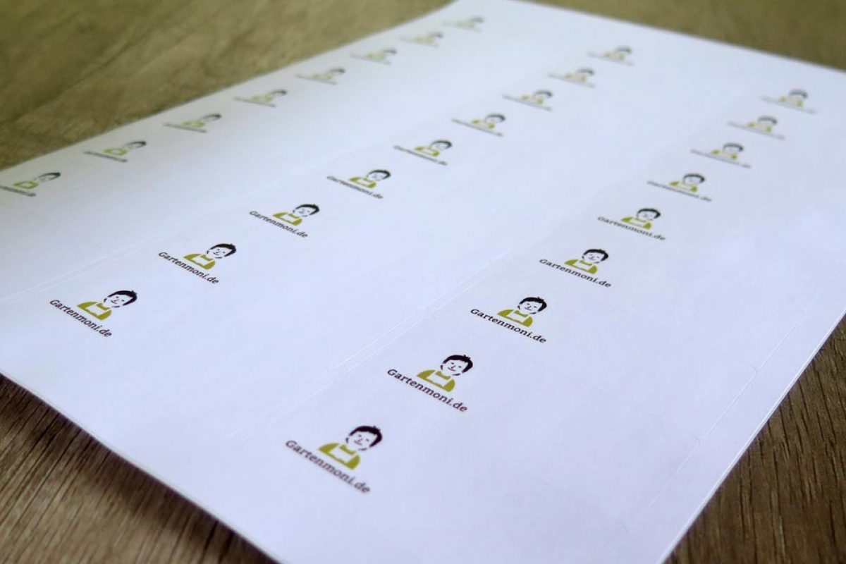 Gartenmoni Etiketten zum Beschrifen von Einmachgläser und Vorratsdosen