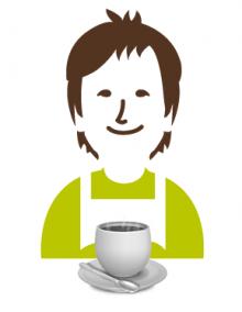 Gartenmoni Kaffeetasse